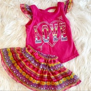Other - 🎈3 for $15🎈 skirt two piece summer outfit